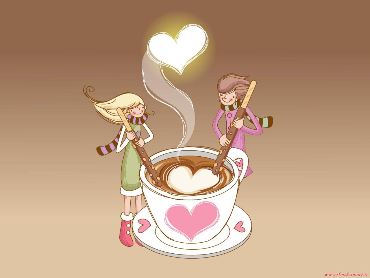 Sfondi Amore cappuccino