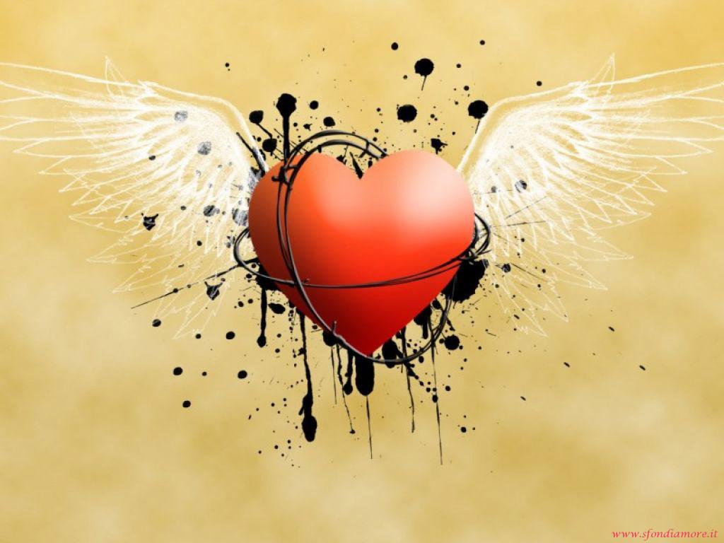 Sfondo Amore Cuore Ali