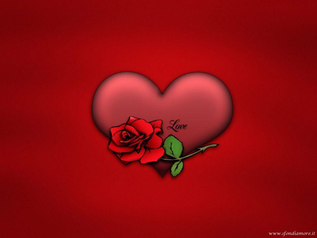 Sfondi amore cuore rosa