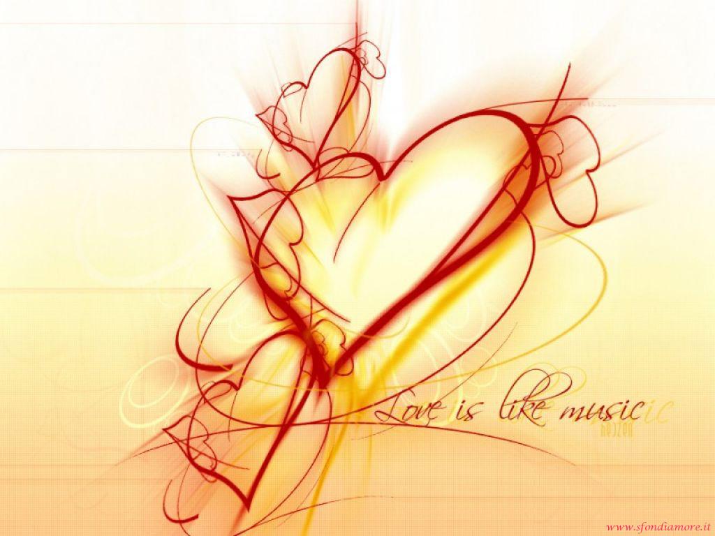 Sfondo amore musica