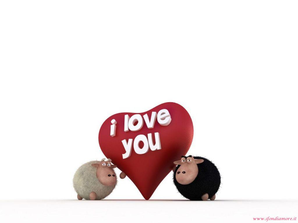 Sfondo amore pecore