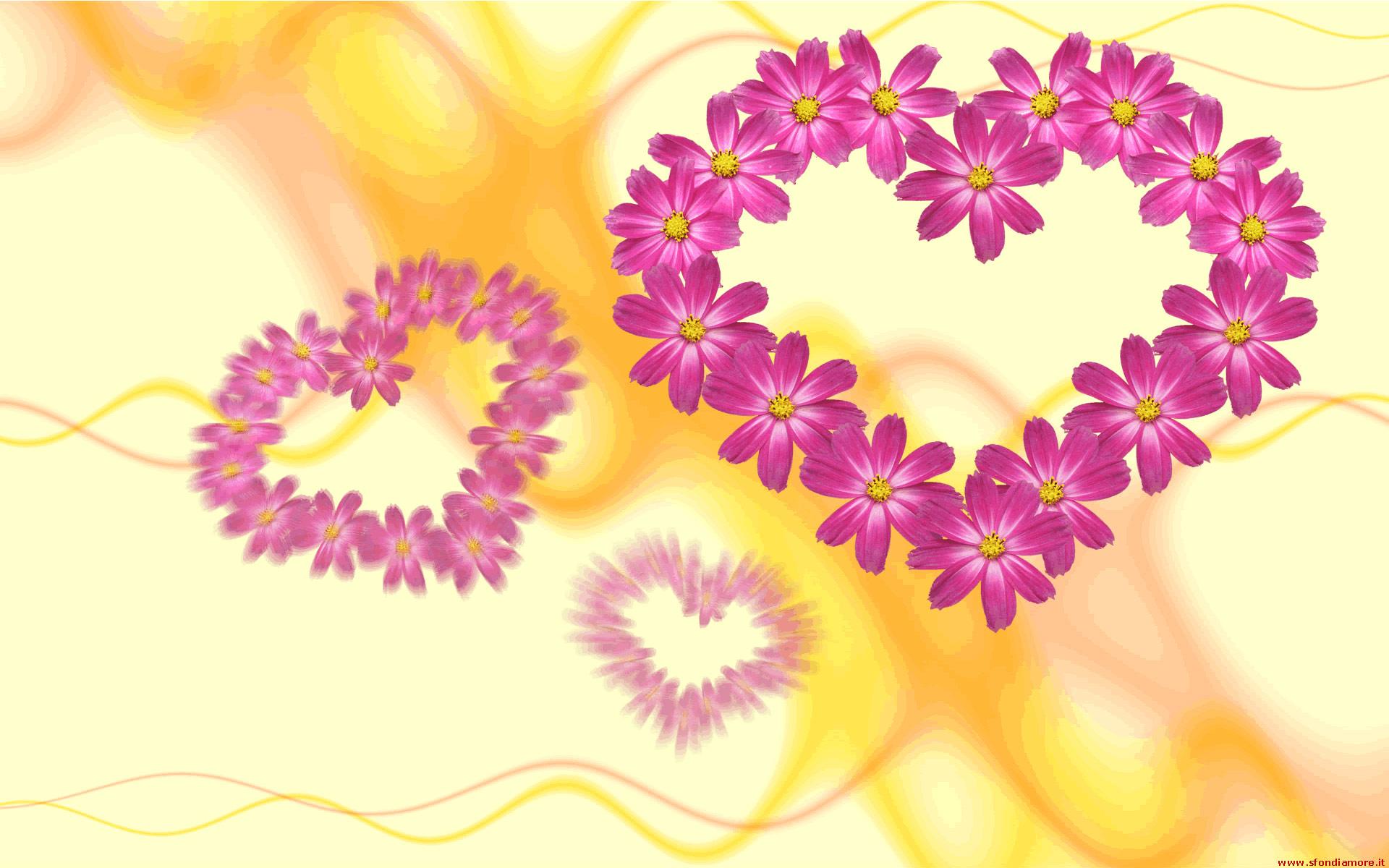 Sfondo cuori fiori